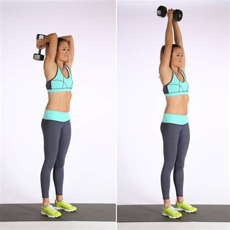 overhead triceps extensions best dumbbell arm exercises