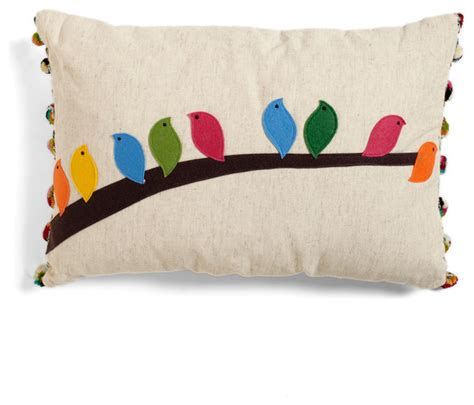 flock of the draw bird pillow decorative