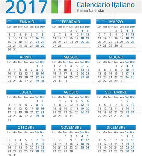 Calendario Completo 2017 Italian Calendar 2017 Calendario Italiano 2017 Stock