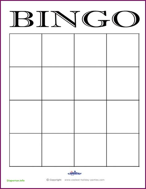 Blank Bingo Card Template Microsoft Word by Bingo Card Template Word Blank Bingo Card Template
