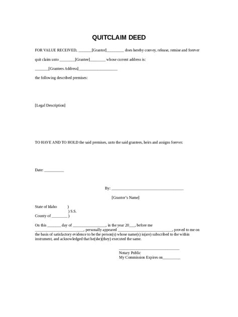 Quit Claim Deed Form 86 Free Templates In Pdf Word Excel Download Template For Quitclaim Deed