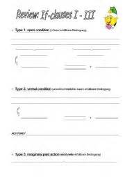 if clauses pattern 3 english worksheets revision if clauses pattern 1 3
