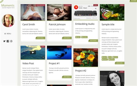 template joomla grid responsive portfolio blog joomla template moments