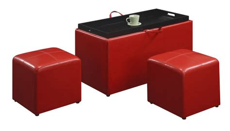 coffee table with 4 storage ottomans club coffee table with 4 storage ottomans feel the home
