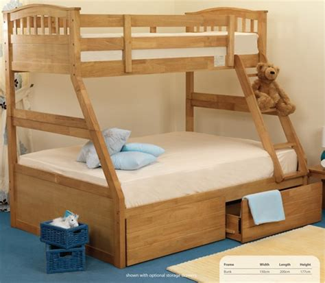 3 Sleeper Bunk Beds by Epsom 3 Sleeper Bunk Bed Oak Finish Sweet Dreams