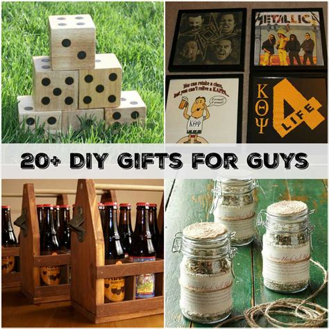 Handmade Gift Ideas For Guys - 20 handmade gifts guys will actually like sometimes