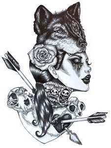 lone wolf archiv 12 x 16 pouces dark gothic art pin up