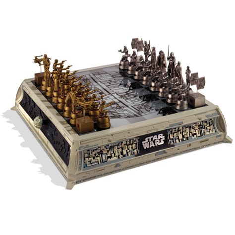 star wars chess sets the star wars rebels vs empire chess set hammacher