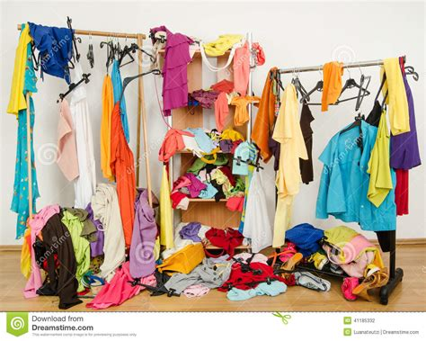 Dress Sos By Z Shop untidy cluttered wardrobe with colorful clothes and