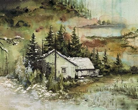 Justin Vernon Cabin by Bon Iver Album Cover On Behance