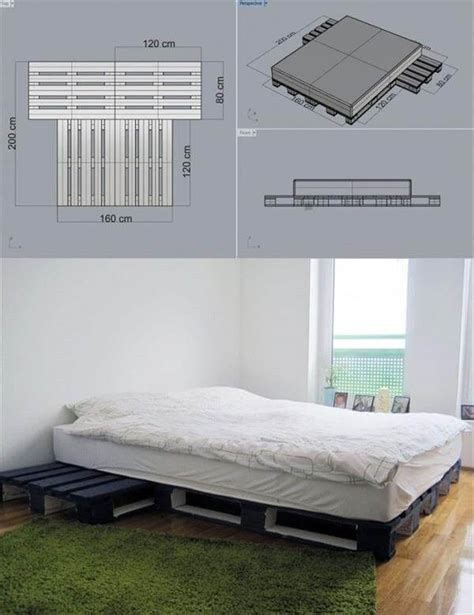 diy pallet bed plans 15 unique diy wooden pallet bed ideas diy and crafts