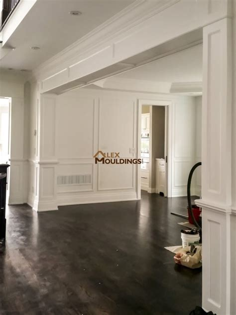 archways openings custom millwork wainscot paneling coffered waffle ceiling archways