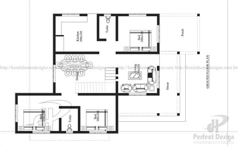 home plan designer 3 bedroom modern flat roof house layout kerala home design
