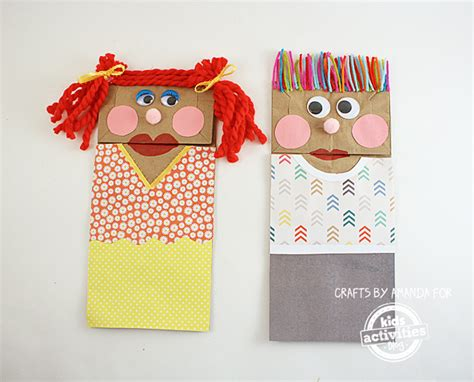 How To Make Puppets Out Of Brown Paper Bags - classic craft paper bag puppets