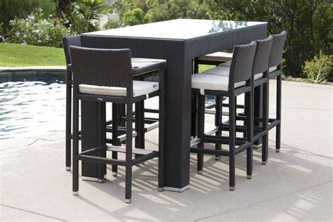 Patio Furniture Bar Stool Sets by Pandora Modern Outdoor Bar Set For 8 With Vertigo Bar