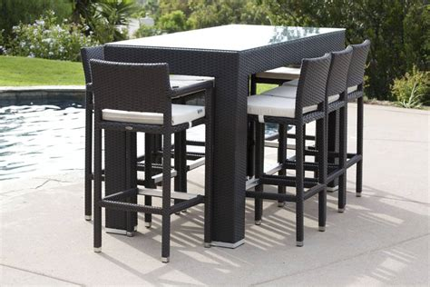 Outdoor Bar Stools Patio Furniture by Pandora Modern Outdoor Bar Set For 8 With Vertigo Bar
