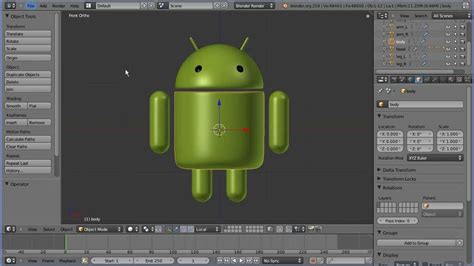 tutorial movie maker android blender modelling tutorial the google android part 1