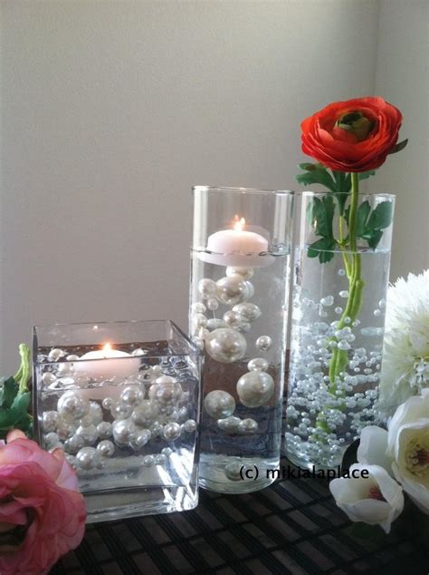 Transparent Water Gel Beads Used To Float Pearls For Water Pearl Centerpieces