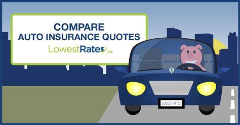 compare auto insurance quotes  quebec lowestratesca