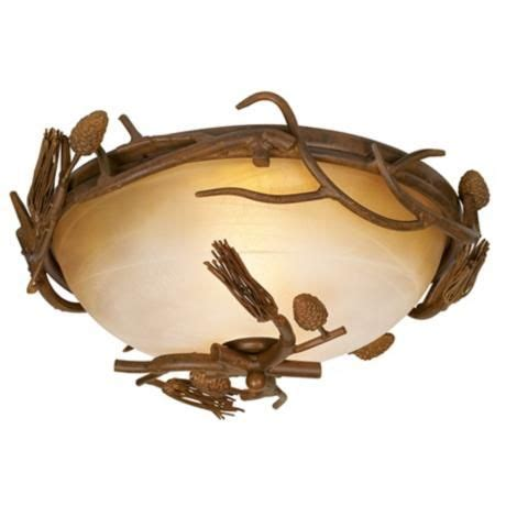 Pinecones Collection 15 Quot Wide Ceiling Light Fixture Cave Light Fixtures