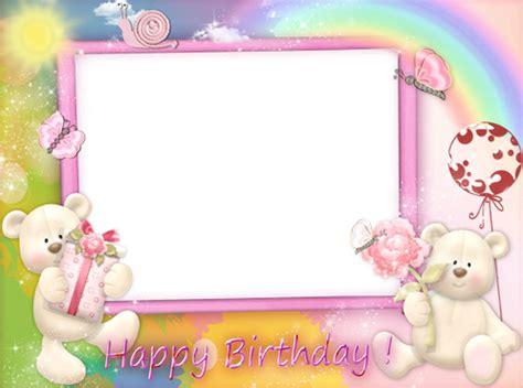 Frame Foto Teddy photo frames happy birthday with pink teddy bears
