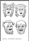 printable greek mask template 1000 images about teaching masks and mask templates on