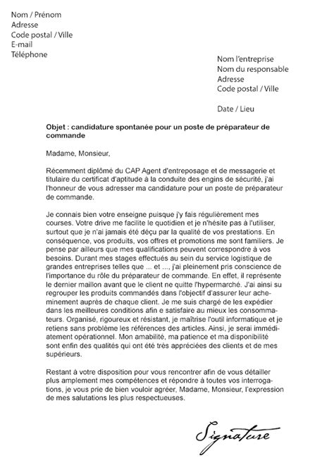Exemple De Lettre De Motivation Rotary Lettre De Motivation Auchan Drive Pr 233 Parateur De Commande