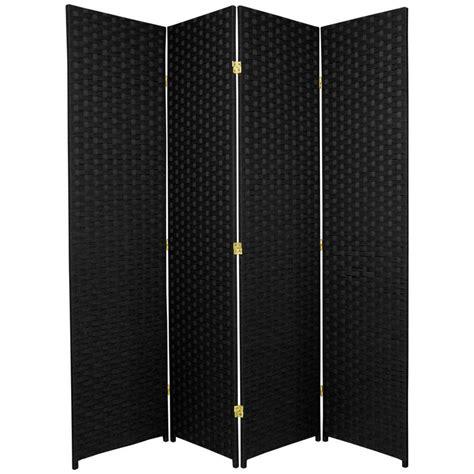 indoor privacy screen living room furniture shop furniture 4 panel black rattan folding