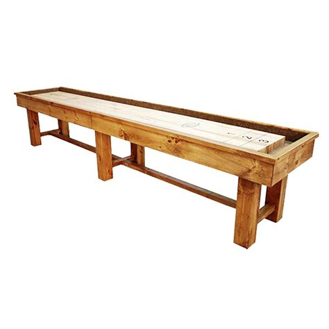 12 foot ponderosa pine shuffleboard table mcclure tables