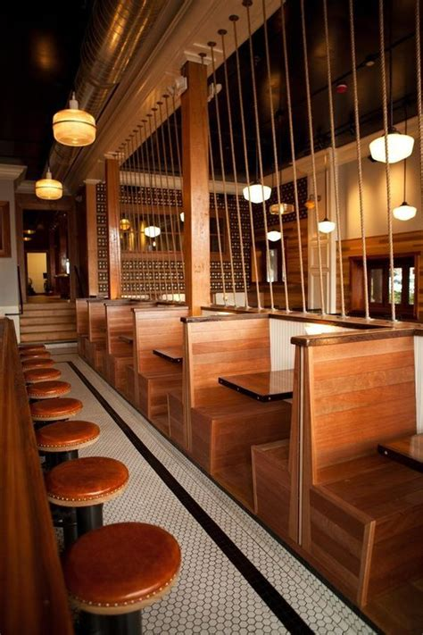 Wooden Banquette Seating by Wooden Back To Back Booth Seating Bars Cafes