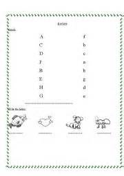 worksheets letters a h revision