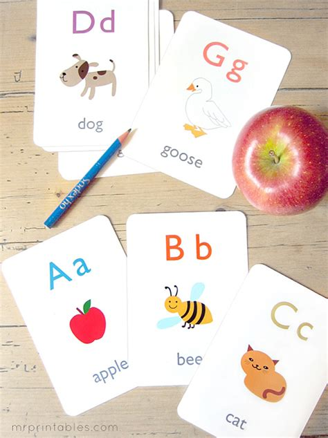 Diy Alphabet Flash Card Template by Alphabet Flash Cards Mr Printables