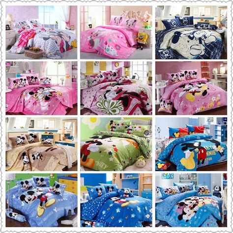 mickey bed set get cheap mickey mouse bed set aliexpress