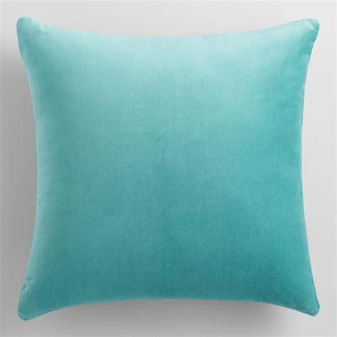 Throw Pillow Blue by Sky Blue Velvet Throw Pillow World Market