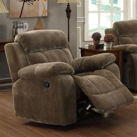 Brown Fabric Recliner Chairs Coaster 603033 Brown Fabric Glider Recliner A Sofa