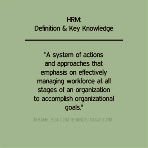 Mba Hrm Means by Human Resource Management Definitions Key Knowledge