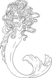 mermaid coloring page coloring pages of mermaids