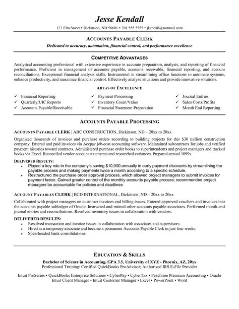 accounts payable analyst resume sle clerk resume sle resume cv cover letter