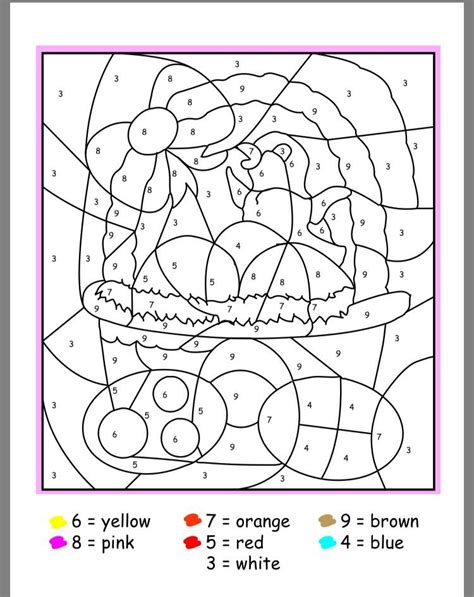 easter color  number activities  preschool