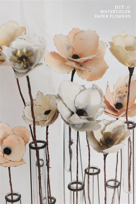 How To Make Watercolor Paper - kelli murray diy watercolor paper flowers