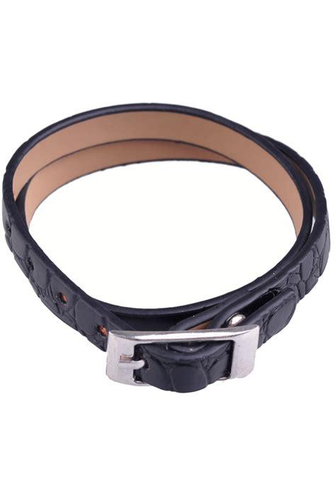 Leather Bracelet 16 imitation leather bracelet with clasp buckle 177 45x1cm adjustable size innersize 177 16