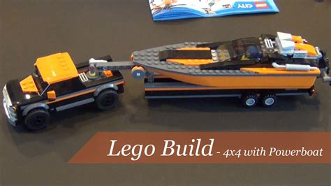 Lego City 60085 4x4 With Powerboat Set Power Motorcar Truck Boat lego city 4x4 with powerboat set 60085 unboxing and build