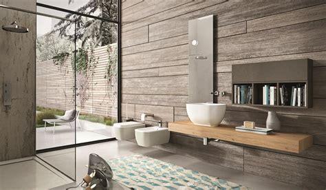 arredo bagno design consolle da bagno in rovere con pensile e specchiera