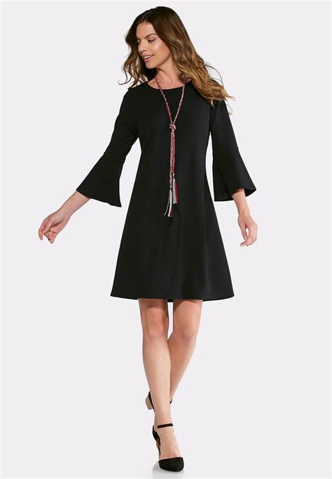 a line swing dress bell sleeve a line dress a line swing cato fashions