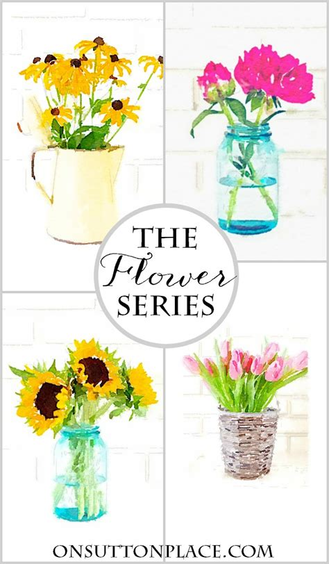 free printable watercolour flowers watercolor flower printable series on sutton place