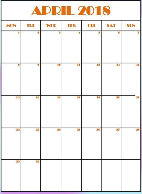 editable april vertical calendar calendar