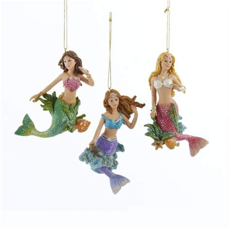 mermaid ornaments mermaid ornament trio mermaid gifts fairyglen
