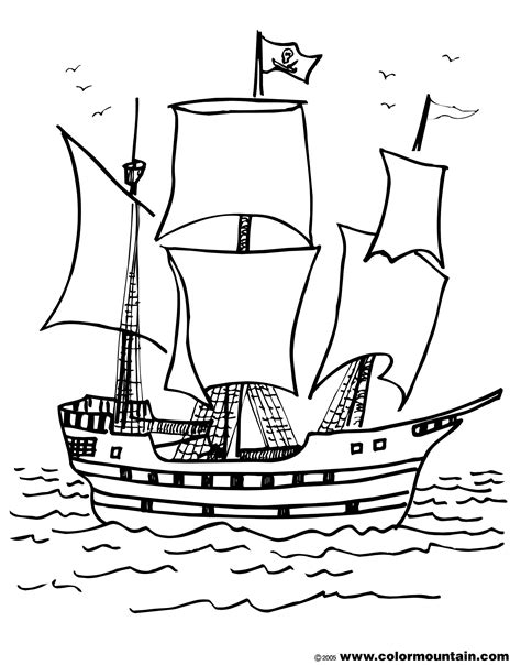 boat drawing activity pirate ship coloring page create a printout activity