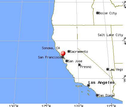 where is sonoma california on the map sonoma california ca 95476 profile population maps