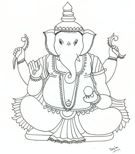 Ganpati Coloring Pages free coloring pages of ganesha